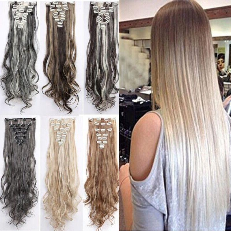 100 percent real natural clip in hair