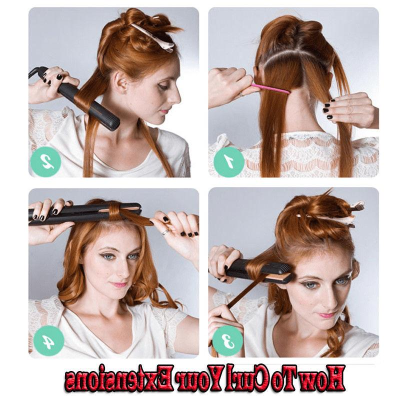 8A Human Hair Clip 100% Hair Extensions Dark Auburn US