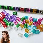 100PCS Hair Braid Pins Ring Dreadlocks Beads Cuff Clips For