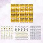 100pcs Hair Jewelry Alloy Beads Hair Extensions Wig DIY Acce