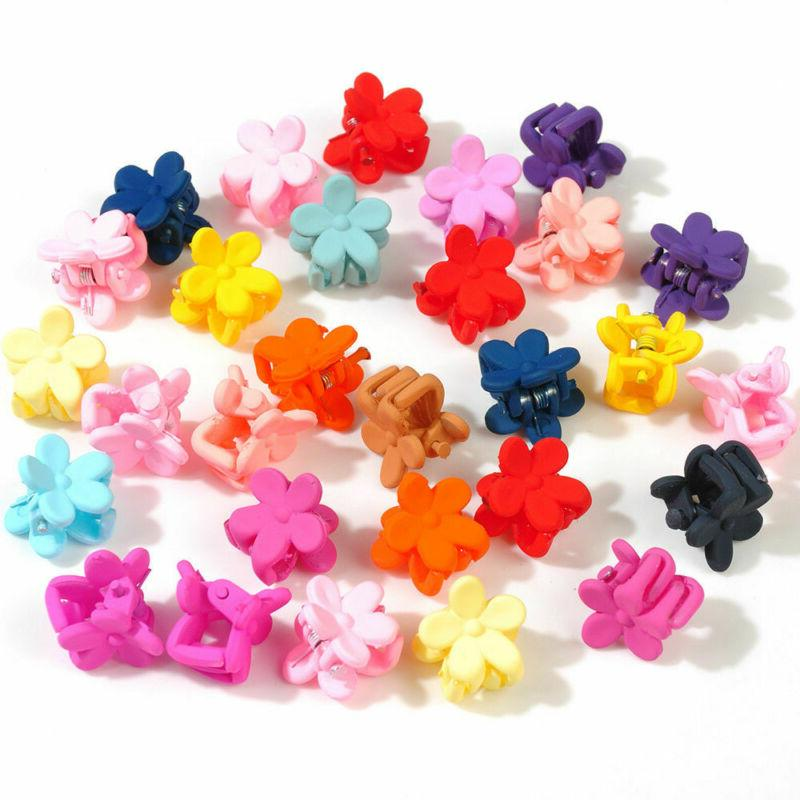 100pcs/lot Mini Clips Flower Clamp Girl Accessories