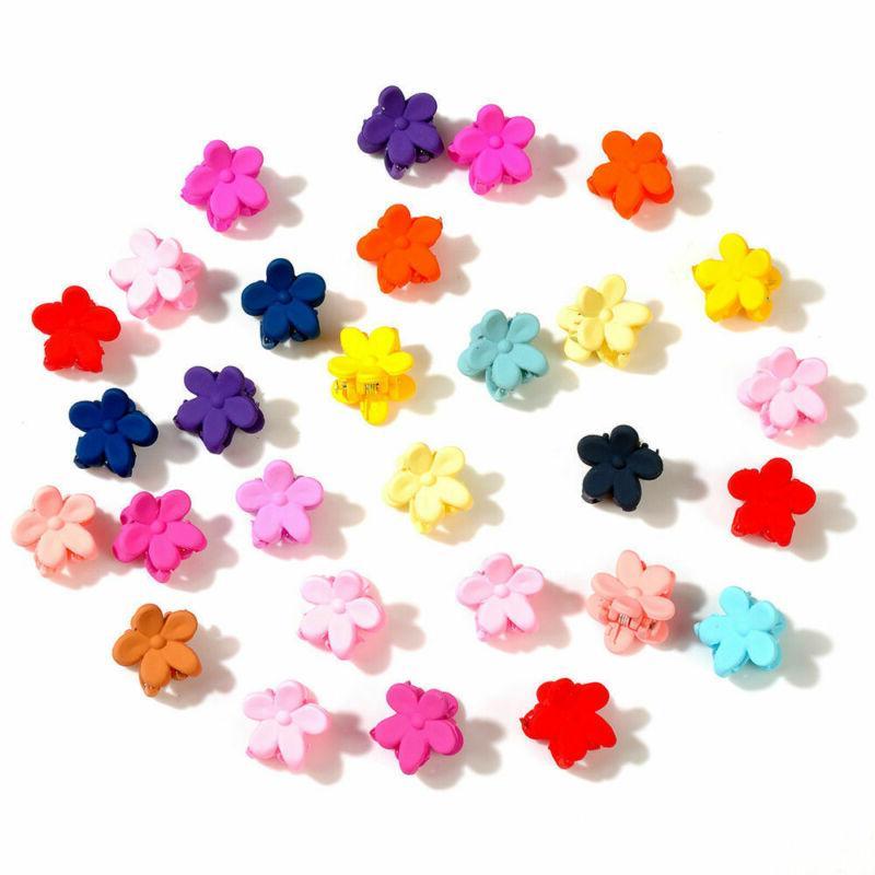 100pcs/lot Hair Mini Clips Flower Girl Baby Hair Accessories