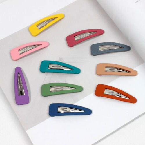 10Pcs Women Candy Color Hair Snap Hair Accessories
