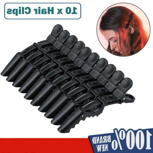 10pcs salon hairdressing crocodile clips hair section