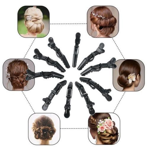 10PCS Salon Hairdressing Clips Hair Claw Clamp US