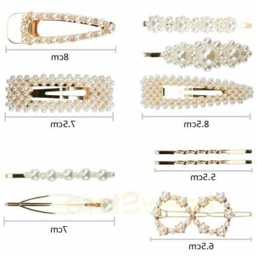 10x women s girls pearl hair clip