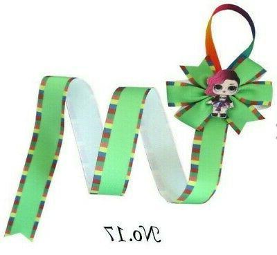 12 30 Hair Holder Rainbow Ribbon L.O.L