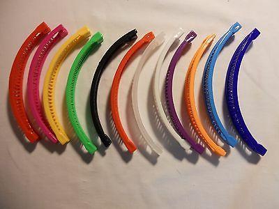 12 Banana Hair Clip Claw mixed color FREE SHIPPING.