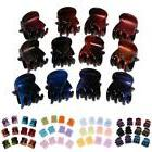 12 Pieces Mini Hair Claw Clips Girl Mix Color Fashionable Pa