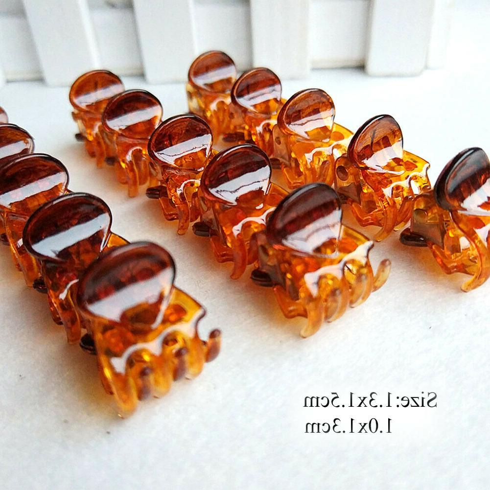 12Pcs/sets Clamp Small Plastic Hair Lot