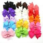 Tinksky 15 Colours 7.6cm Boutique Hair Bows Girls Kids Allig
