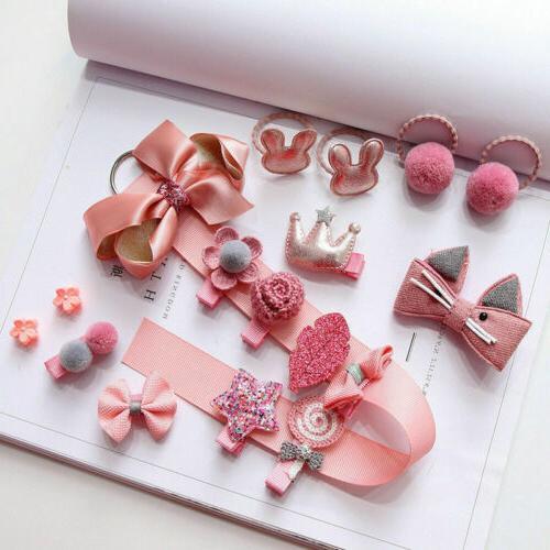 18Pcs/set Hairpin Hair Clip Bow Mini Star Infant