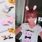 1pair Girl Hair Clips Stereo Angel Wings Rabbit Ear Hairpin