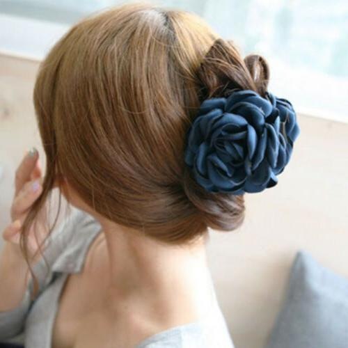 1PC Cloth Rose Flower Hair Jaw Hair Accessories