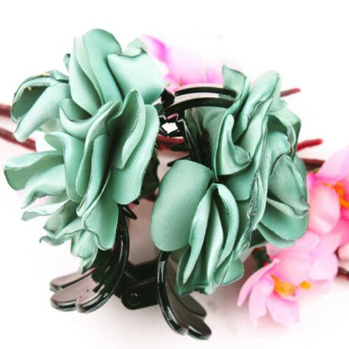 1PC Flower Hair Barrette Jaw Clamp Accessories