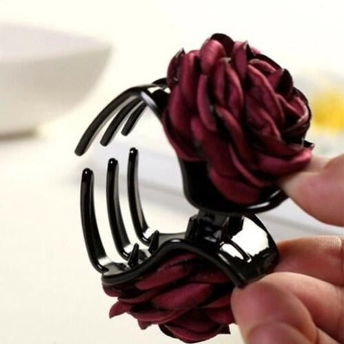 1PC Cloth Rose Hair Claw Barrette Jaw Accessories