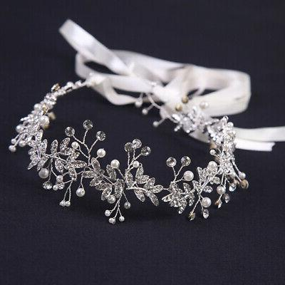 1Pc Pearl Rhinestone Headband Bridal