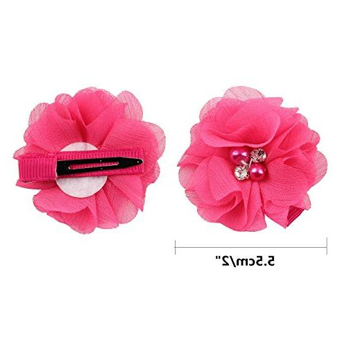 inSowni Alligator Clips Rhinestone Pearl for Baby Girl