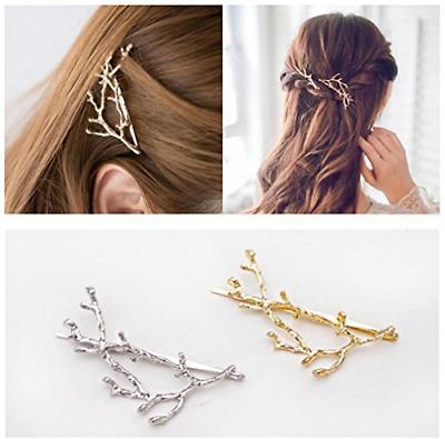 QTMY 2 Metal Branches Hair Clips Hair Accessories