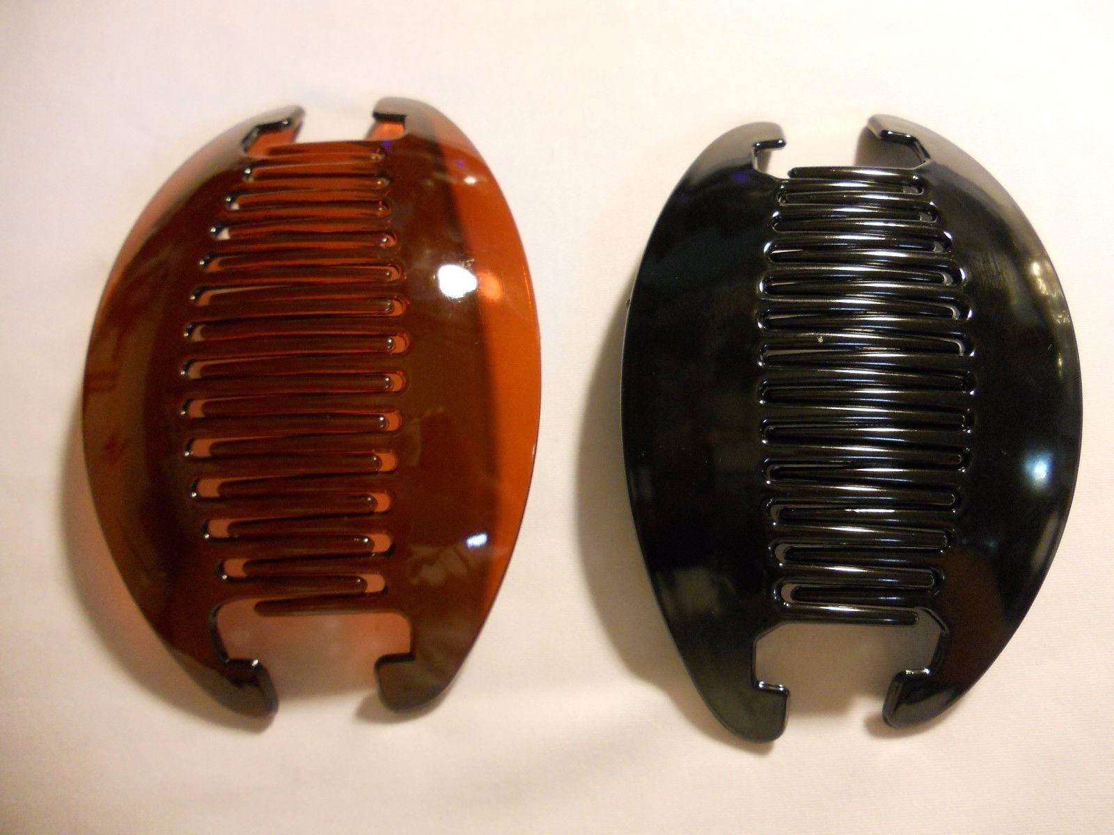 2 Jumbo Banana Comb Clip Riser Claw Interlocking Extra