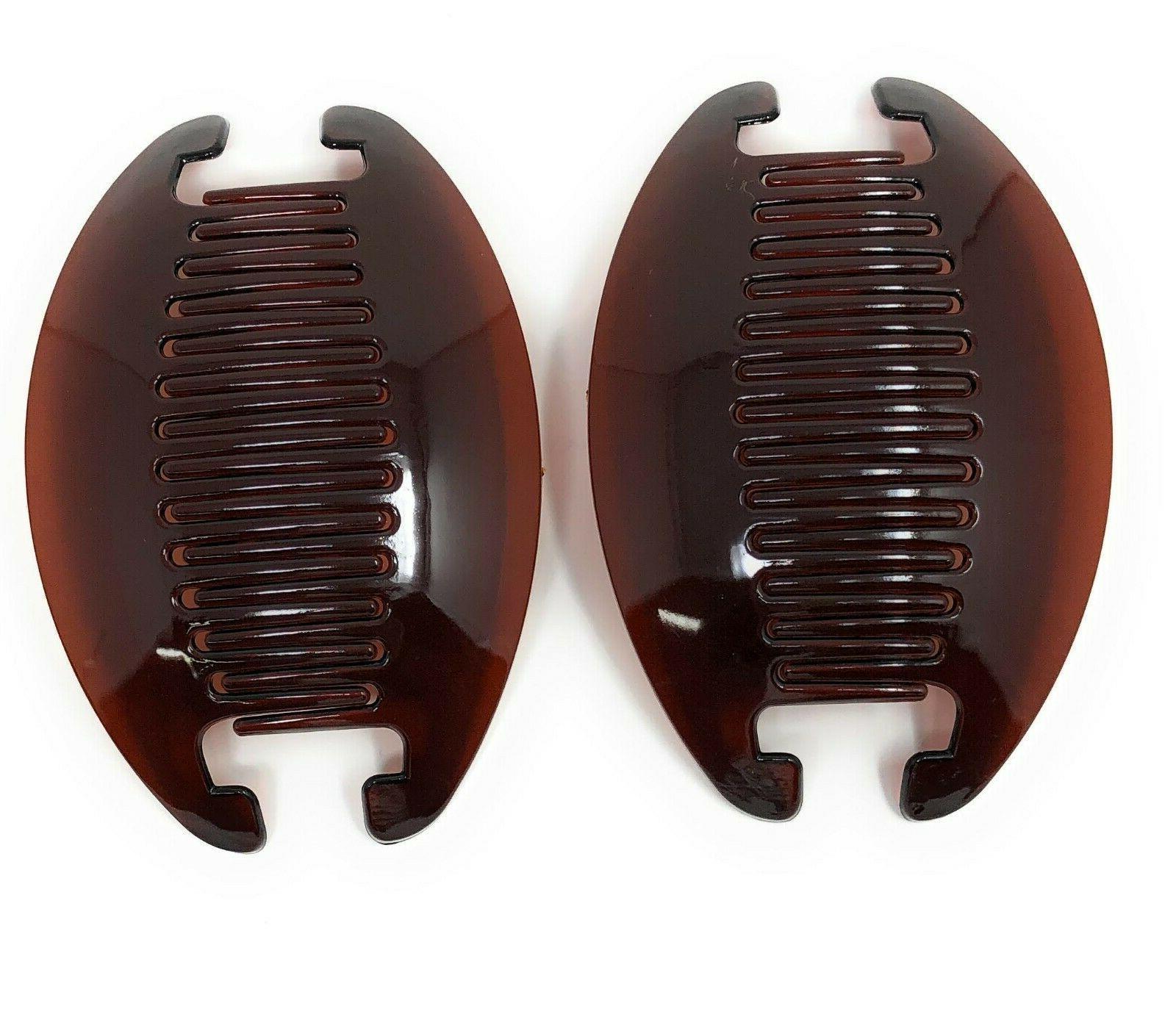2 set jumbo banana comb clip thick