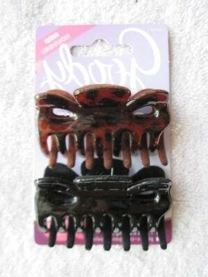 2 Goody Slideproof Secure Fit Velvet Claw Clips Hair Jaw Bla