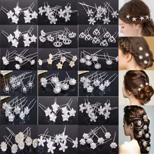 20 40pc wedding bridal pearl flower crystal