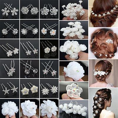 20/40PCS Bridal Pearl Flower Hair Bobby