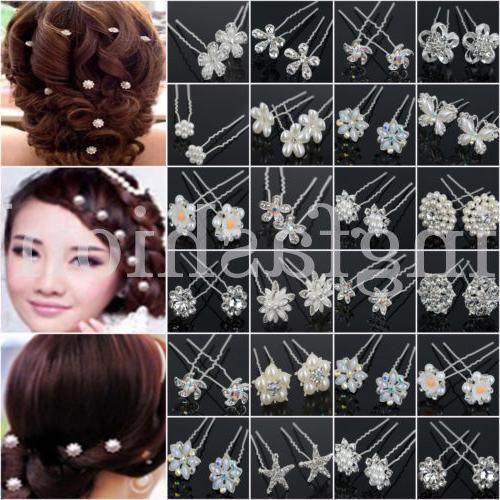 20/40PCS Wholesale Lot Bridal Pearl Hair