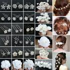 20/40PCS Wholesale Lot Wedding Bridal Pearl Flower Crystal H