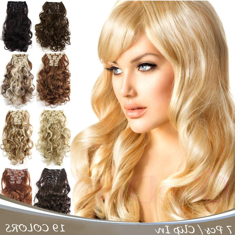 """OneDor 20"""" Curly Full Head Synthetic Clip in Hair Extensions"""