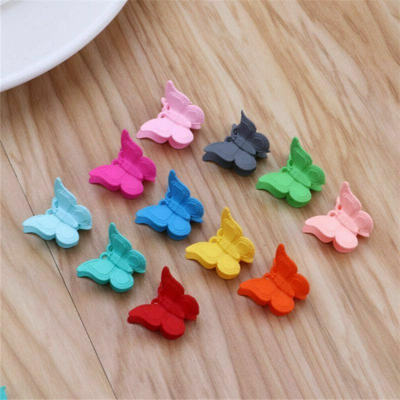 20 Packs Color Butterfly Clips Girls Beautiful