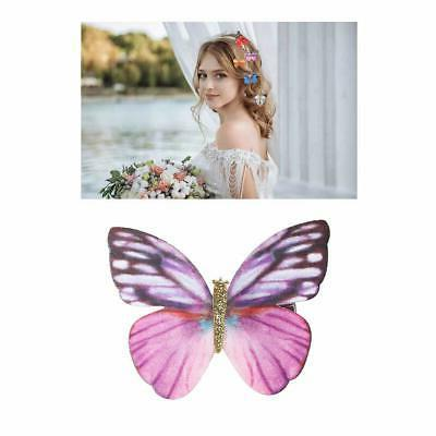20 Pieces Assorted Colors Pack Glitter Butterfly Hair Mini Claw