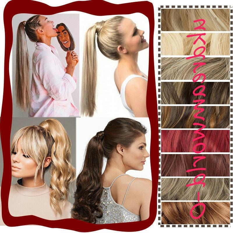 Thick Ponytail in Hair Extension As Human Ombre