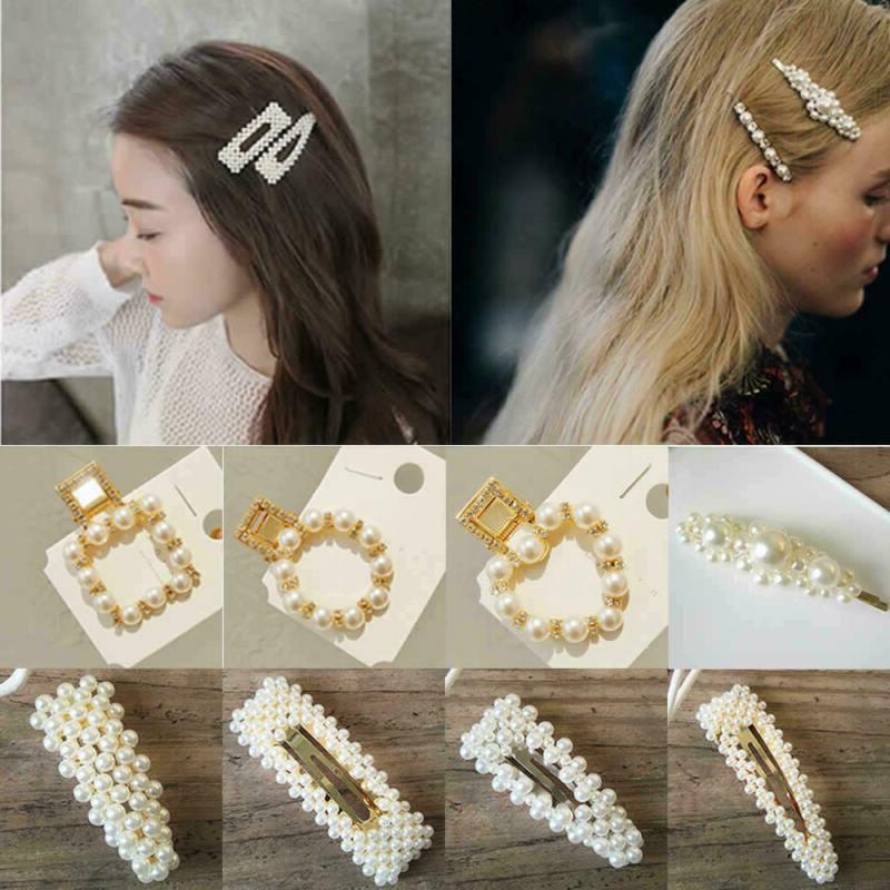2019 Clip Snap Barrette Stick Hairpin Bobby Hair
