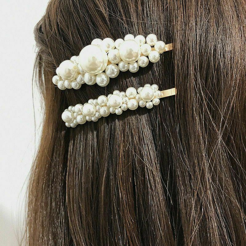 2019 Women Pearl Hair Clip Hairpin Bobby