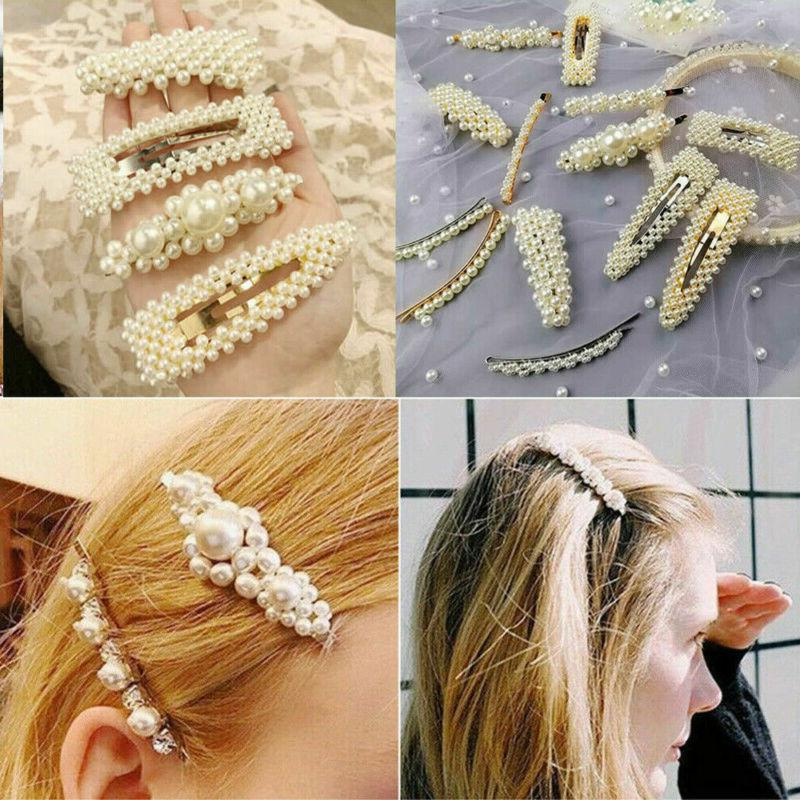 2019 Pearl Clip Snap Barrette Hairpin