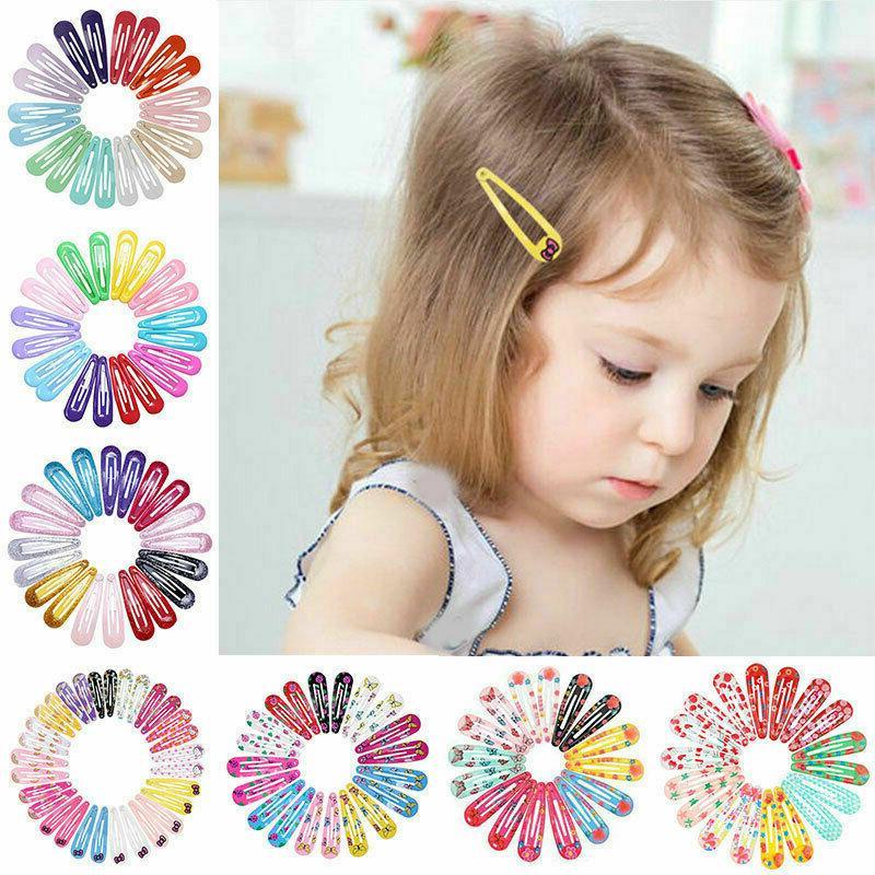 20pcs 5cm snap hair clips for hair