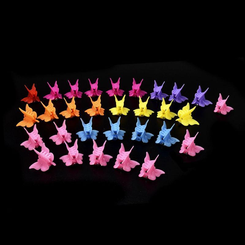 20Pcs Colors Mini Butterfly Shap Clamp