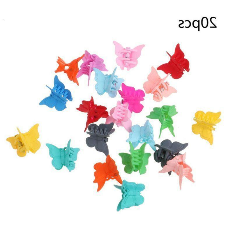 20Pcs Kids Girl Colors Mini Butterfly Shap Hair Clamp