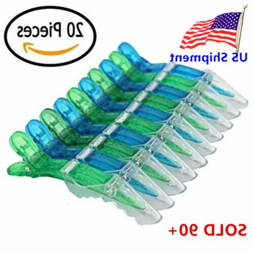 20pcs salon croc hair styling clips sectioning