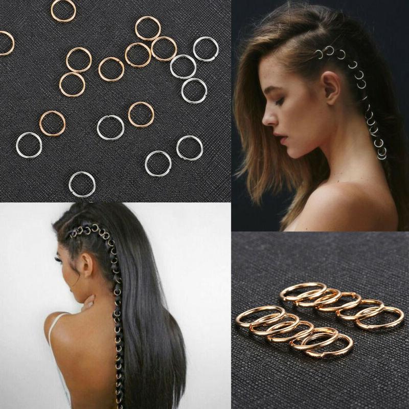 20pcs/set Braid Gold Silver Hair Clip Pin Accessory DIY