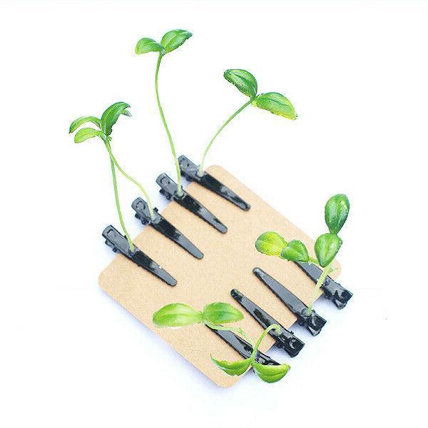 20x Funny Leaf Plant Sprout Flower Headwear Hair Clip New