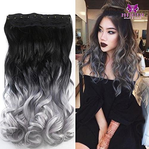 24 synthetic curly two tone