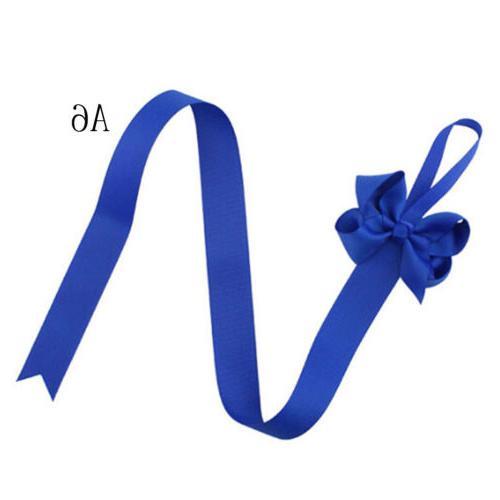 2pc Girls Hair Grosgrain Ribbon Baby Clip Holder Storage BH