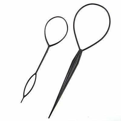 2pcs plastic topsy tail hair braid ponytail