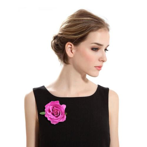 2Pcs Flower Hair Clip Dancer Pin up Flower Party