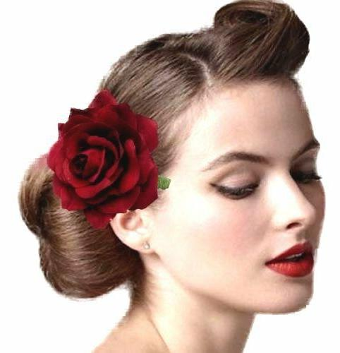 2Pcs Clip Flamenco Dancer up Flower Brooch Party