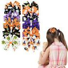 2x halloween baby girls barrettes boutique hair