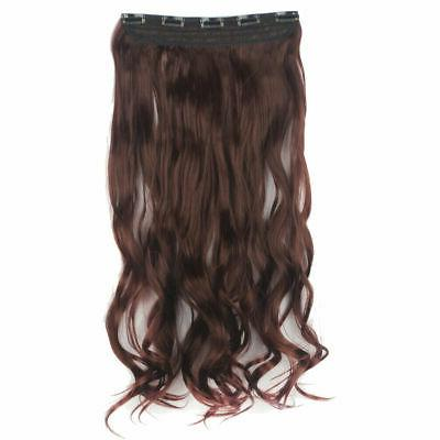 3/4 Full Clip In Hair Extensions Straight Hair Piece Xmas